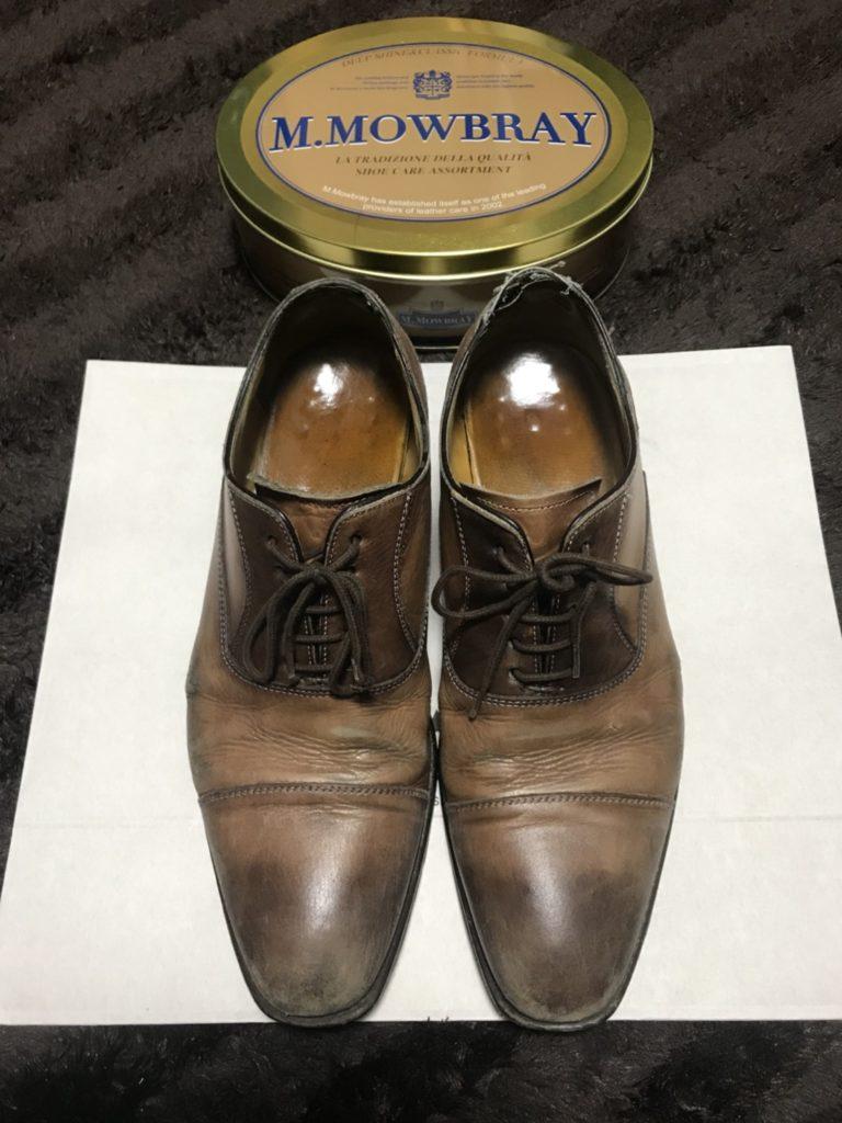革靴 ビフォー
