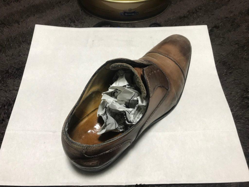 革靴 シューキーパーの代用品