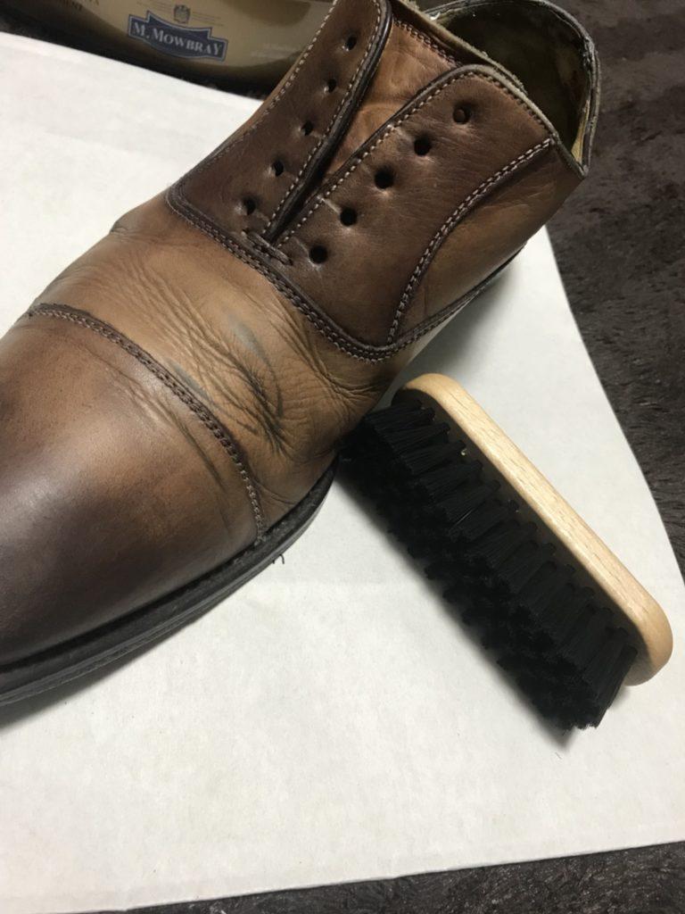 革靴 シューズブラシ(黒毛)