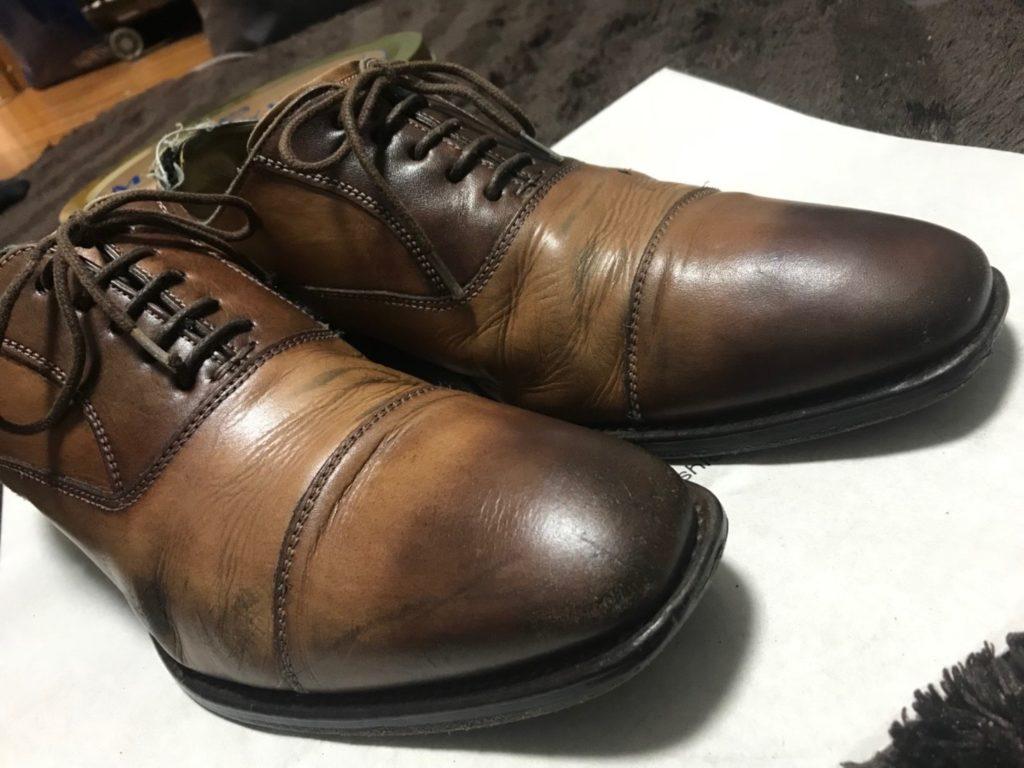 革靴 アフター(先端)